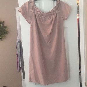 H&M off the shoulder mauve dress